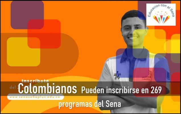 Colombianos Pueden Inscribirse En 269 Programas Del Sena